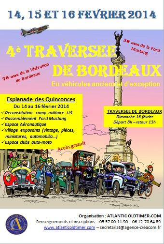 Traversée hivernale de Bordeaux février 2014