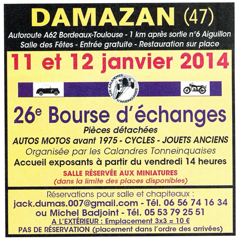 11 & 12 Janvier Bourse de Damazan (47)