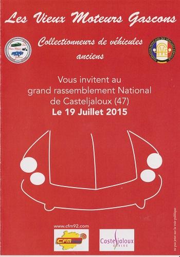 Grand Rassemblement National de Casteljaloux le 19 juilliet 2015