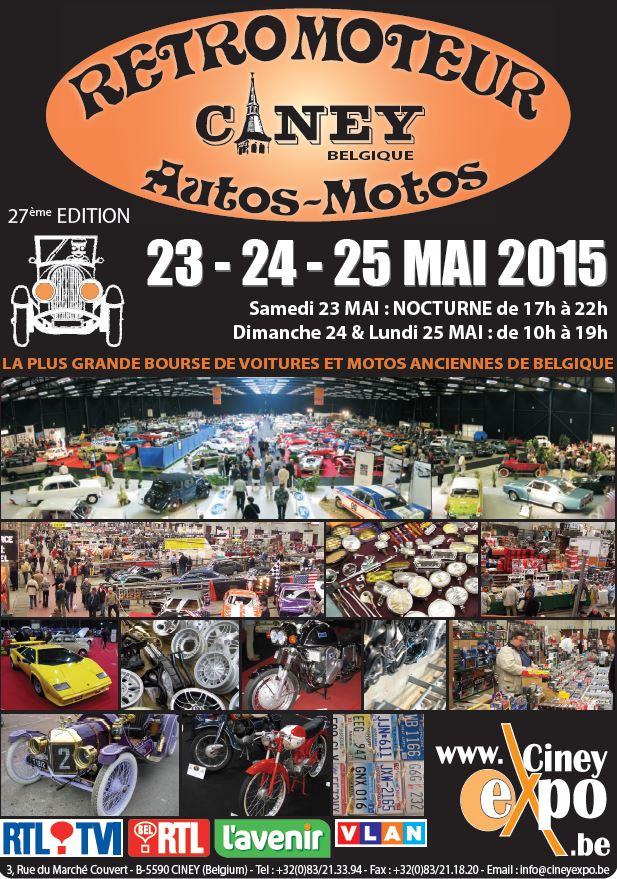 25 mai 2015 Retromoteur à Ciney ( Belgique )