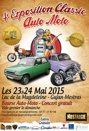 4ème Exposition Classic Auto Moto 23 et 24 mai 2015