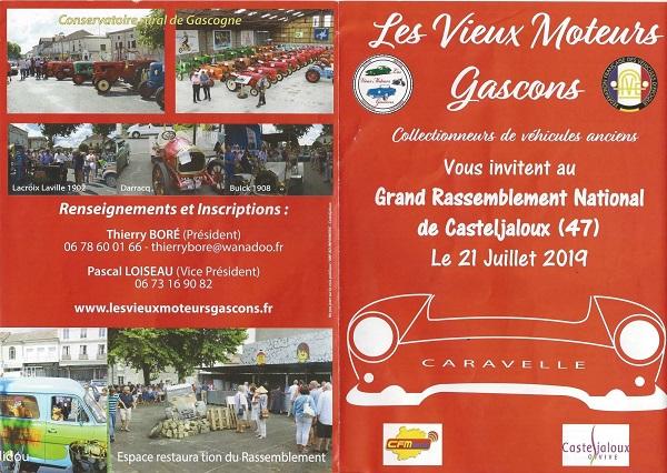 Grand Rassemblement National de Casteljaloux le 21 Juillet 2019